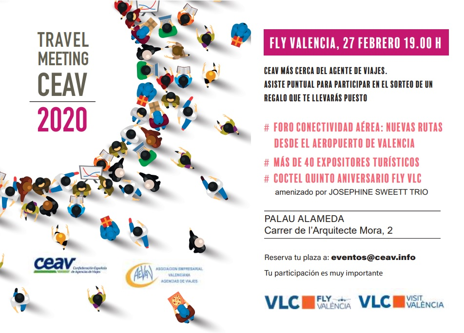 Invitación al Travel Meeting CEAV 2020 Valencia
